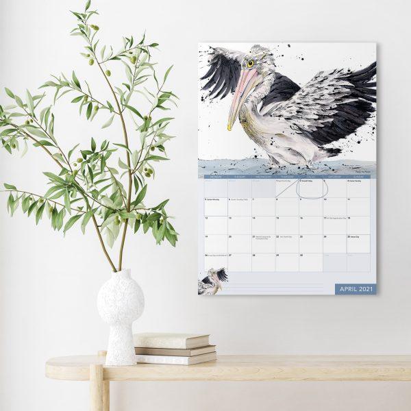 Shannon Dwyer Artist 2021 calendar, australian bird artworks calendar